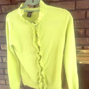 NY&Co lime green sweater.